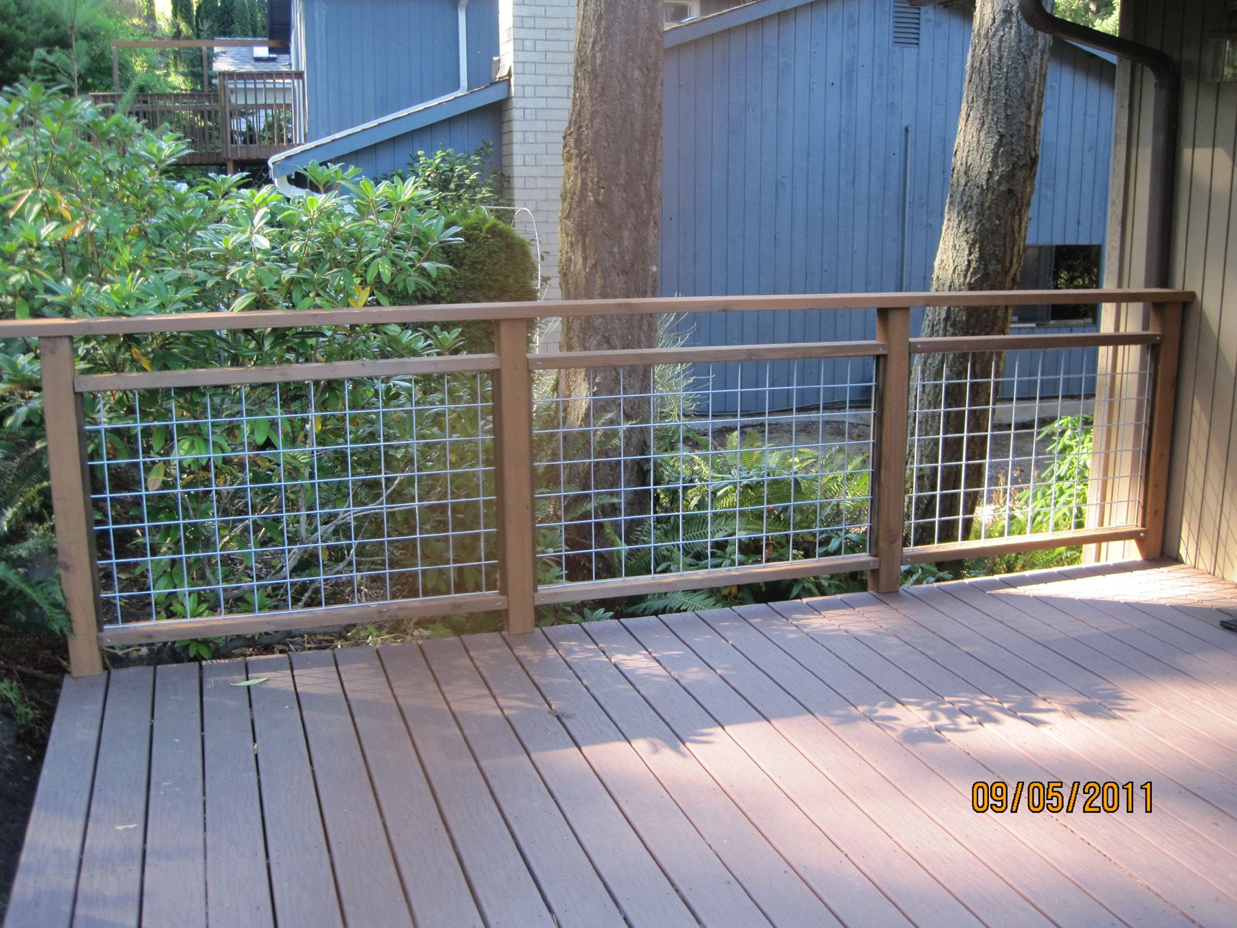 Do it yourself deck railing is done Deck railings Railings and
