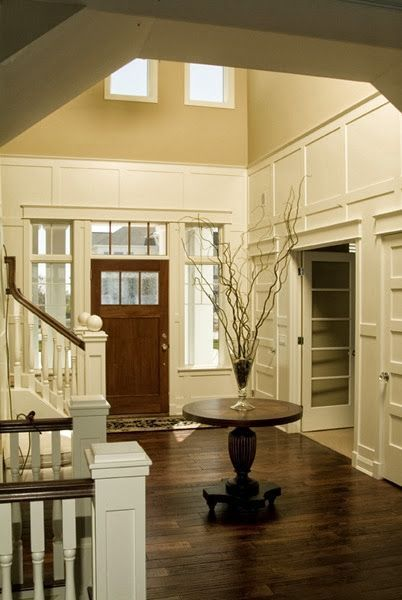 a collection of ideas for decorating two story walls ...