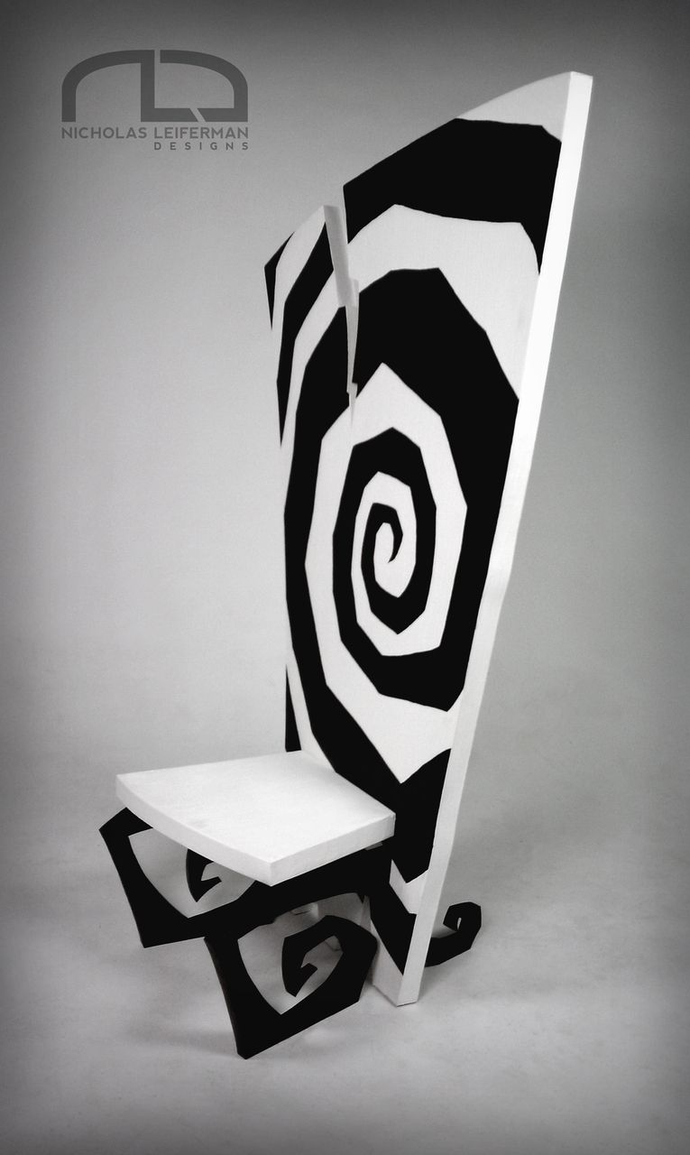 My Finished Tim Burton Inspired Conceptual Chair Design 50