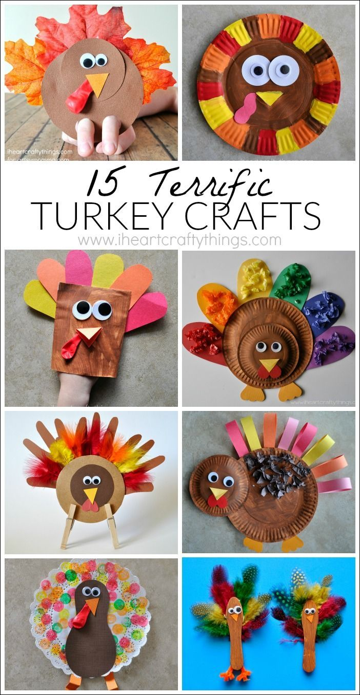 15 Terrific Turkey Crafts For Kids Thanksgiving Crafts For