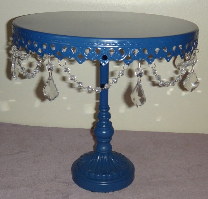 Opulent treasures large navy blue pedestal cake cupcake