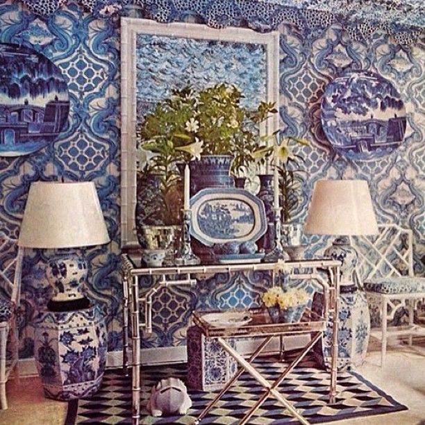 The late, great Oscar de la Renta's stunning blue and white sunroom has scooped the Most Loved vote this week! Read more on anothermag.com