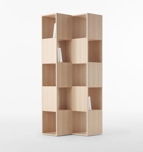 Via Fold Wooden Bookshelves By Nendo For Conde House