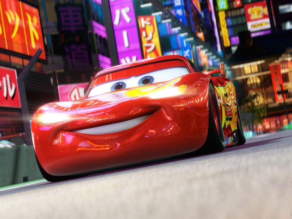 18cfbeae244 Papel de Parede Gratuito de Desenhos   Carros 2 - Relâmpago McQueen ...