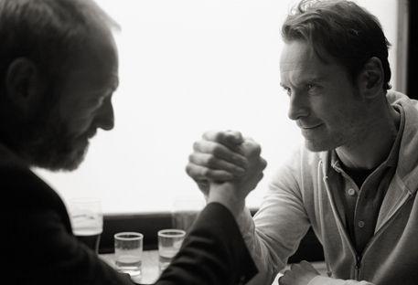 Liam Cunningham, Michael Fassbender in Pitch Black Heist.