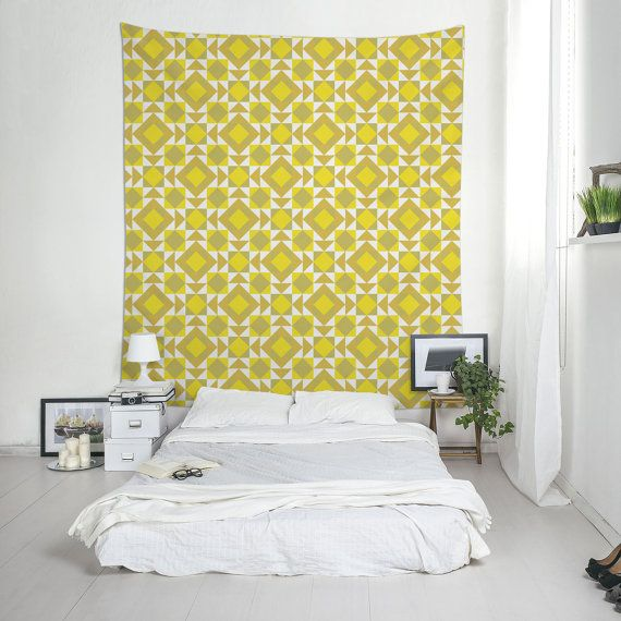 Yellow Tapestries, Lightweight Wall Art, Extra Large Wall Art ...