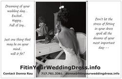 Attention Brides <3  Are you worried about fitting in your wedding dress?  www.Fitinyourweddingdress.info  We will take the STRESS out of your DRESS!