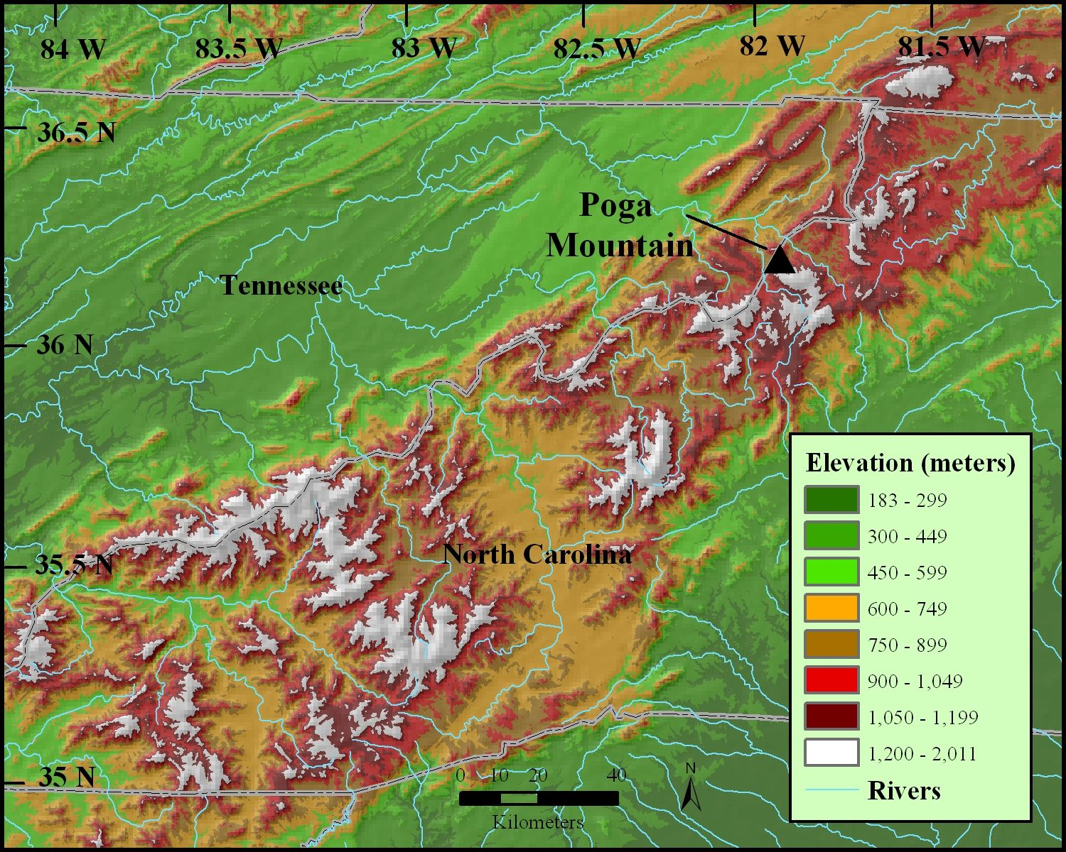 appalachian mountains map | School Projects | Appalachian ...