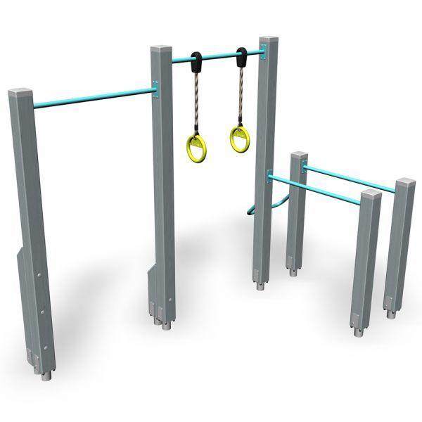 Rekstok Brug En Ringen Speeltuin Buiten Buiten Gym Tuinidee