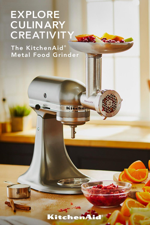 Other Metal Food Grinder Attachment Ksmmga Kitchenaid In 2020 Gadgets Kitchen Cooking Kitchen Aid Mixer Recipes Kitchen Aid