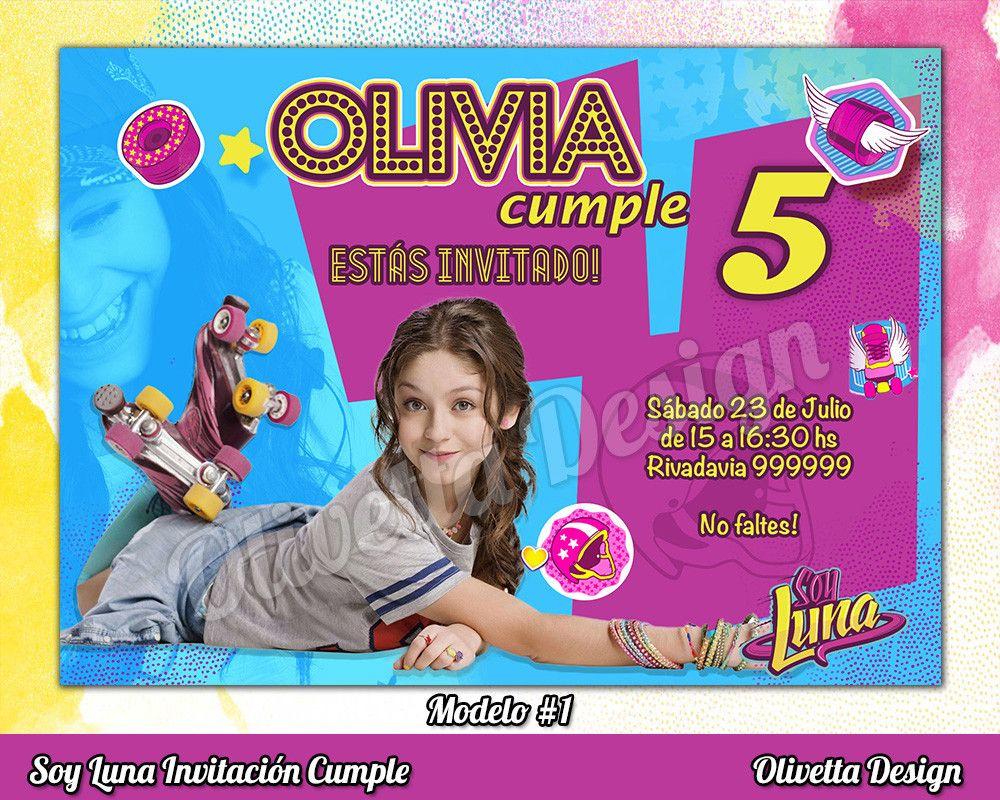 Soy Luna Invitación Cumpleaños Imprimible Digital