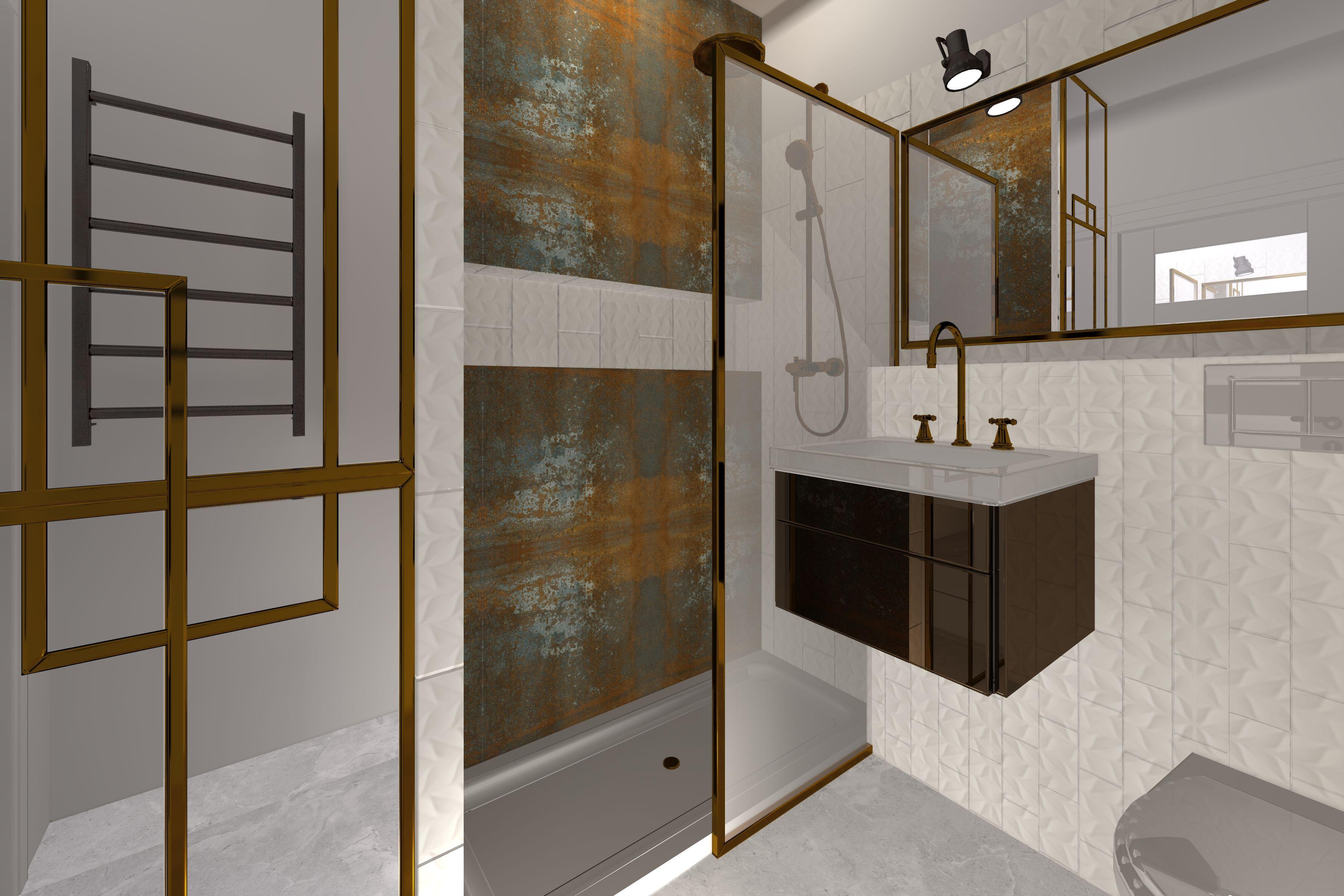 łazienka Utrzymana W Loftowym Stylu Który Podkreślają
