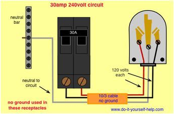 wiring    diagram    for a    30    amp  240    volt    circuit breaker