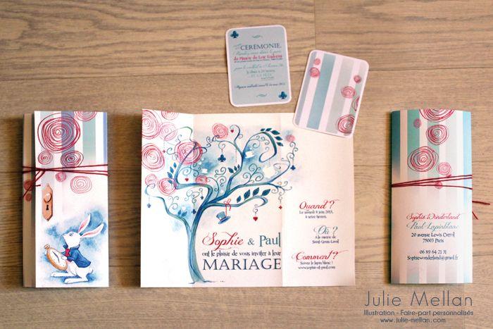 Fabulous Modèles faire-part | Julie Mellan – Illustratrice | idées mariage  UI34