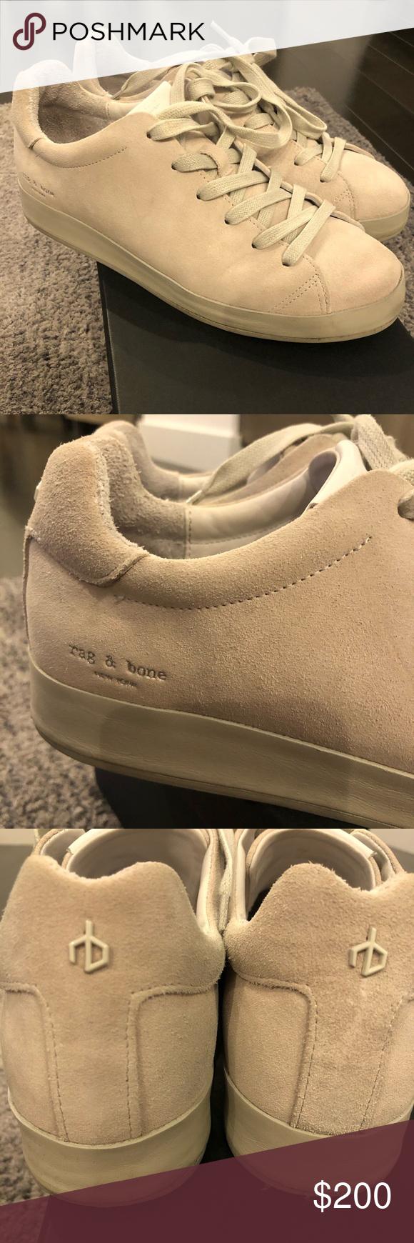Rag and Bone sneakers RB1 Low Suede Sneakers  Gray  Off whiteish color Im  Rag and Bone sneakers RB1 Low Suede Sneakers  Gray  Off whiteish color Im