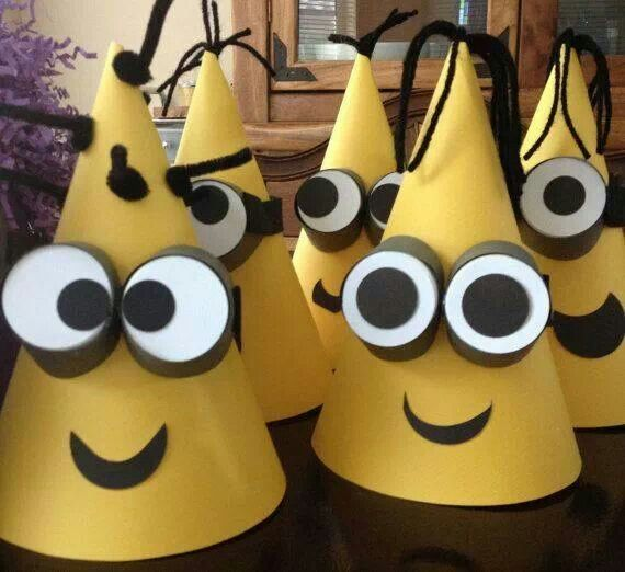 c39a696b Minion hats | Crafts | Minion party, Despicable me party, Birthday ...