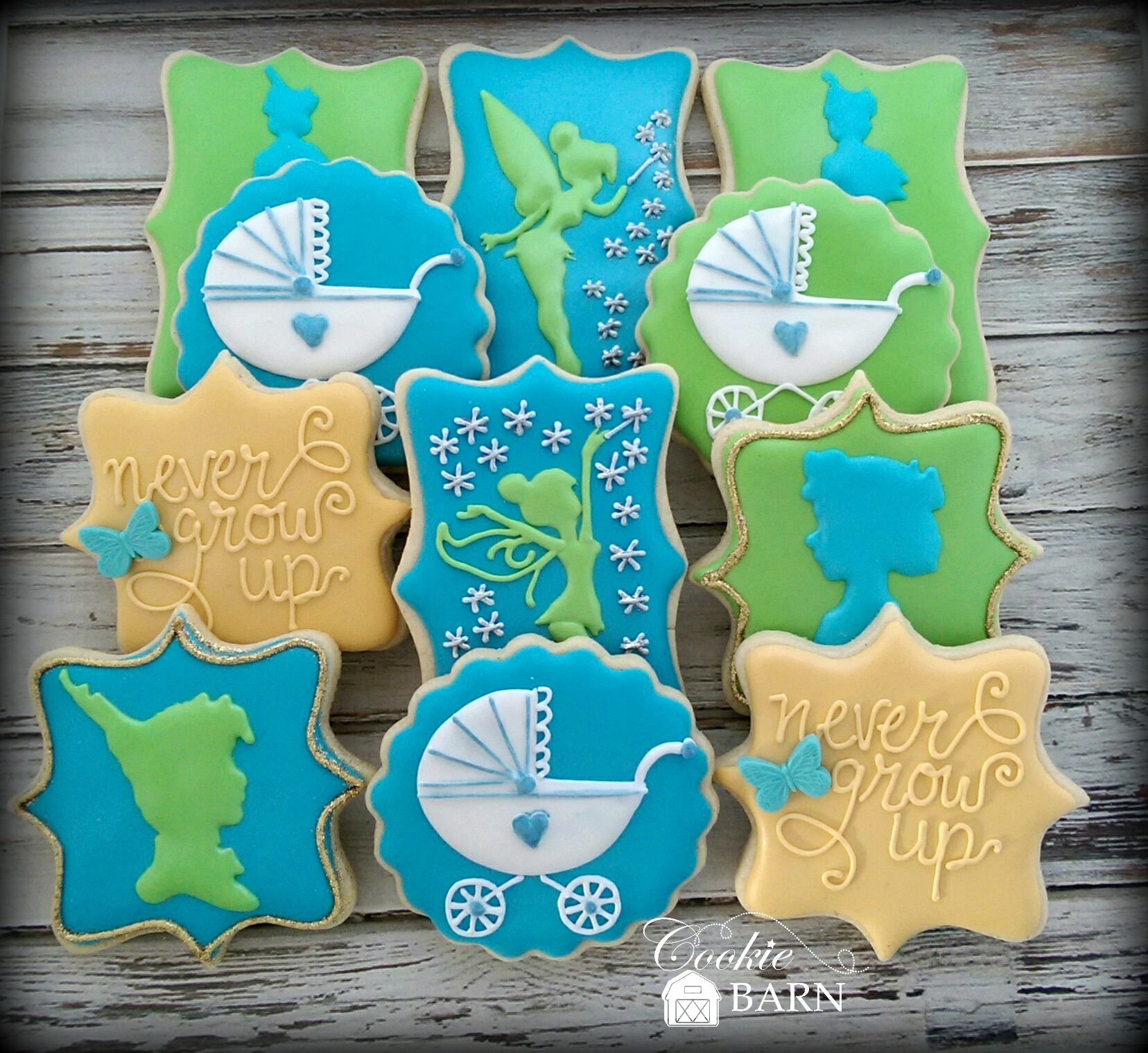 Neverland Peter Pan Baby Shower Cookies With Images