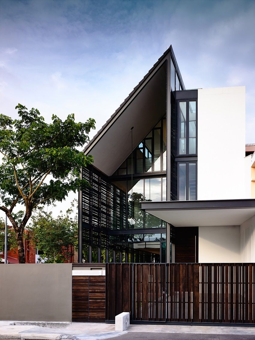 Unique Corner Terrace House Design House Exterior In 2019