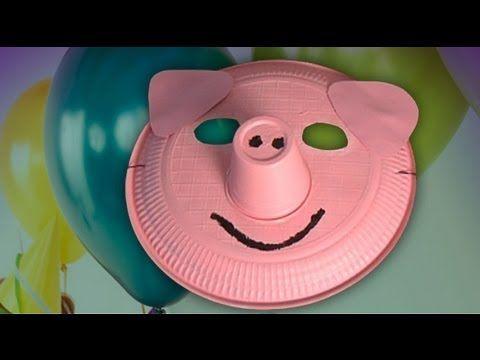 Máscara de cerdo. Disfraces para carnaval - YouTube