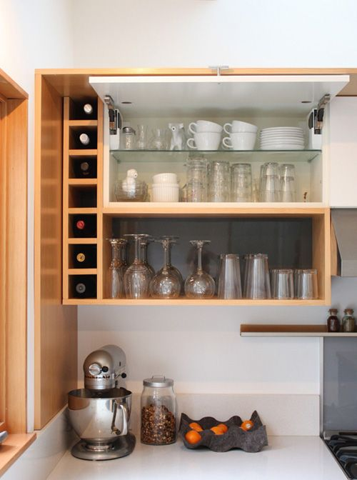 Kitchen To Get A Custom Look Without The Hefty Price Tag Combine Diy Vertical Grain Douglas Fir Shelving And End Panels With Ikea Cabinets