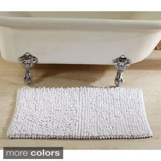 Loopy Chenille Handwoven Square 24 x 24 Bath Rug by Better Trends | Overstock.com Shopping - The Best Deals on Bath Rugs