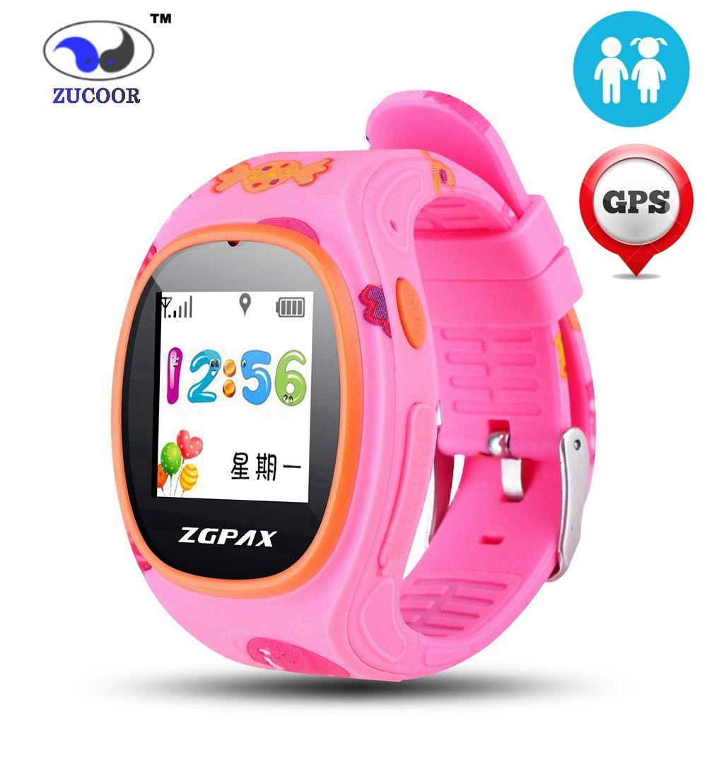 Kinder SmartWatch mit GPS Tracker Armbanduhr SOS Notfall GSM Intelligente Handy App Für IOS Android Kinder