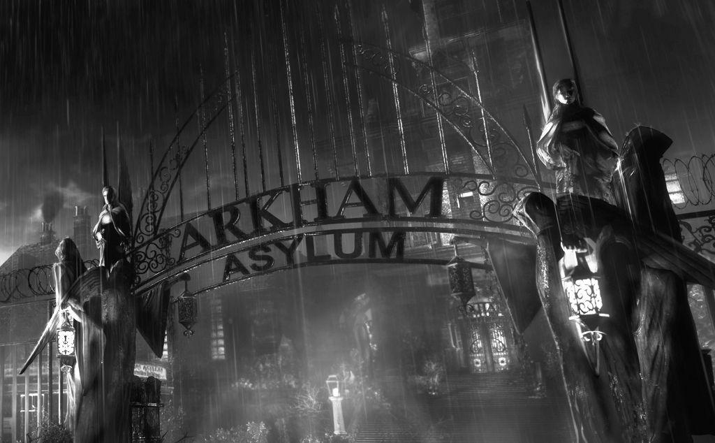Arkham Gate Batman Arkham Asylum Arkham Asylum Batman Arkham Asylum The Dark Knight Poster