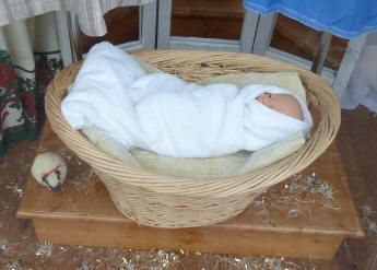 Baby in manger display