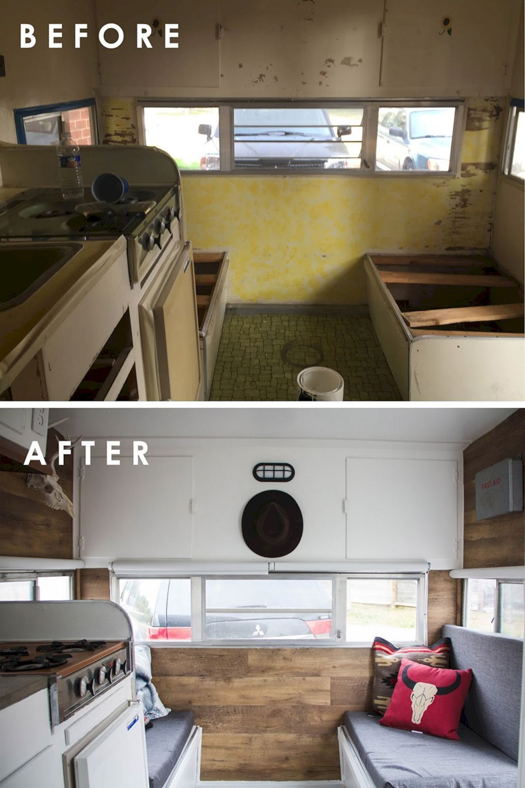 Outstanding 42+ Amazing RV Camper Makeover Ideas Before