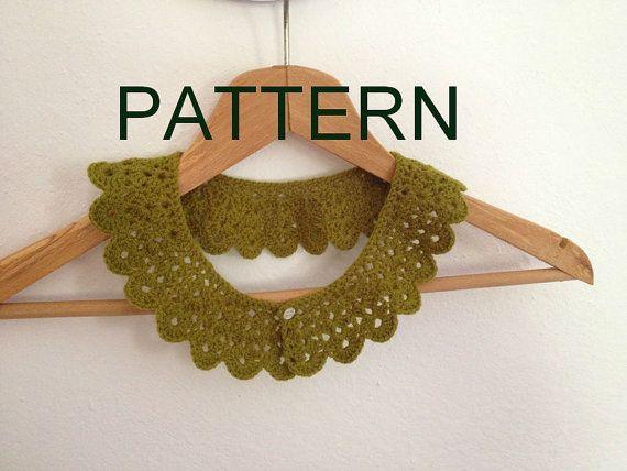 PDF crochet patternDIY tutorial   crochet collar by NesrinArt, $5.00