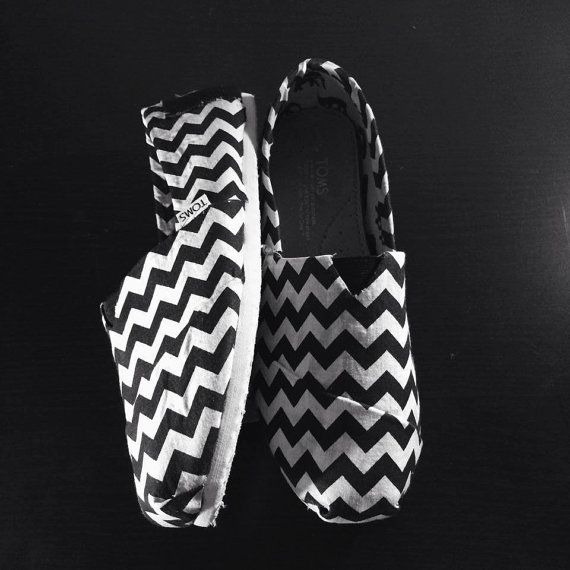 These are cute and very wearable with almost anything! - Chevron TOMS! CUTE!