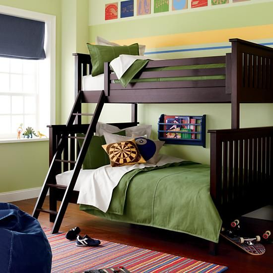 The Land Of Nod Kids Bunk Beds Kids Twin Over Full Espresso