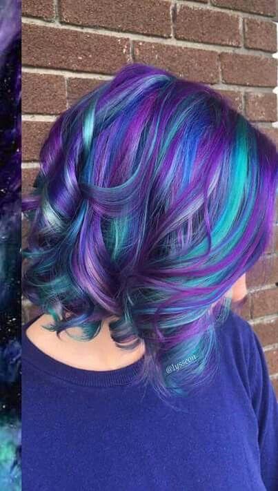 Galaxy Hair Winter Hair Color Hair Color Purple Cool Hair Color