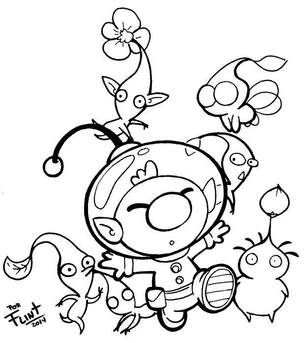 olimar_and_pikmin_by_flintofmother3-d873yvf.jpg (624×696