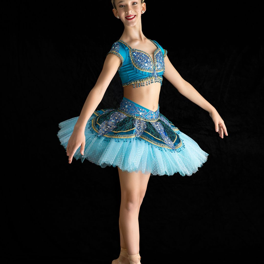 DANCE COSTUME  LYRICAL BALLET FAIRY   PAGEANT SKATE SOPHISTICATION