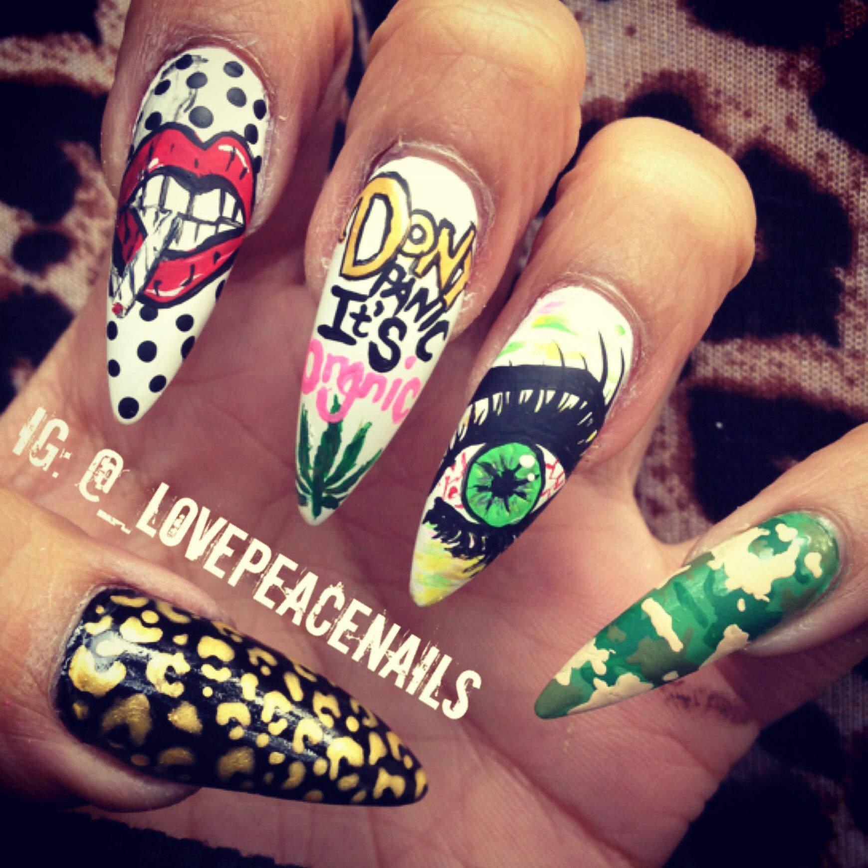 Nails made with weed in them! ❤ | Mani Pedi | Pinterest | Them ...