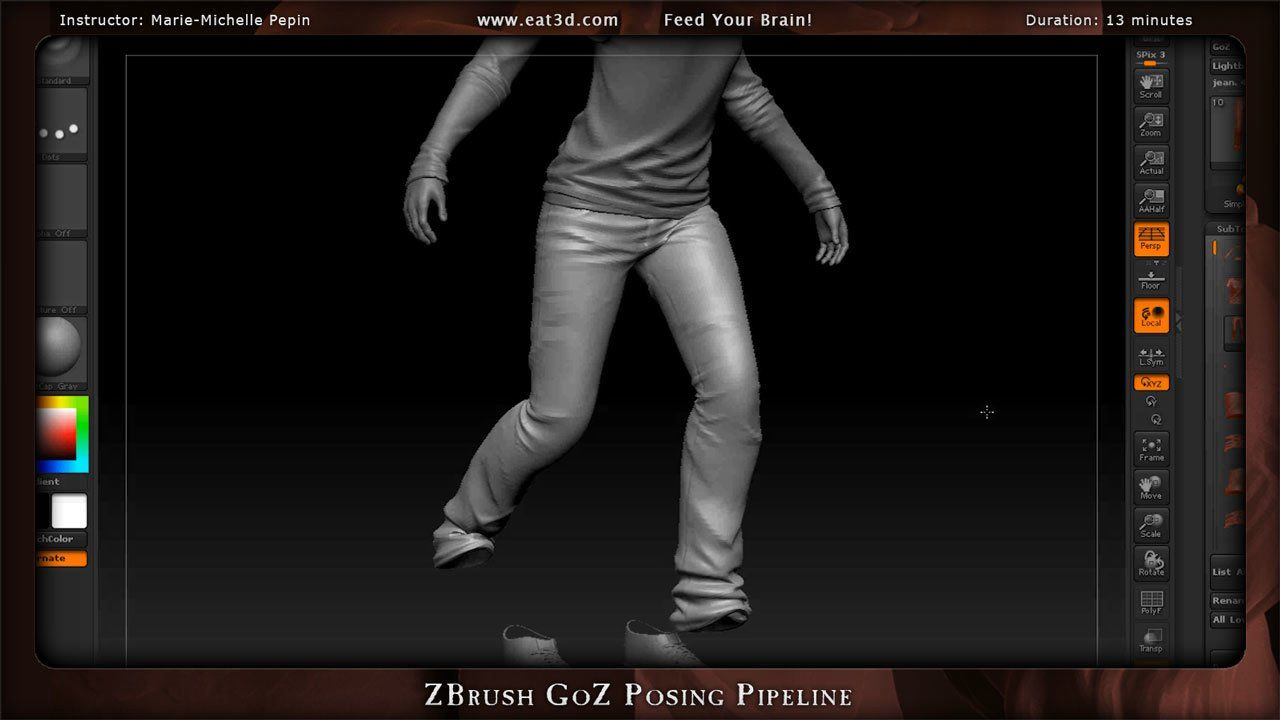 ZBrush GoZ Posing Pipeline. In this demonstration, Marie-Michelle Pepin demonstrates how to use GoZ to bring your character poses from 3ds M...