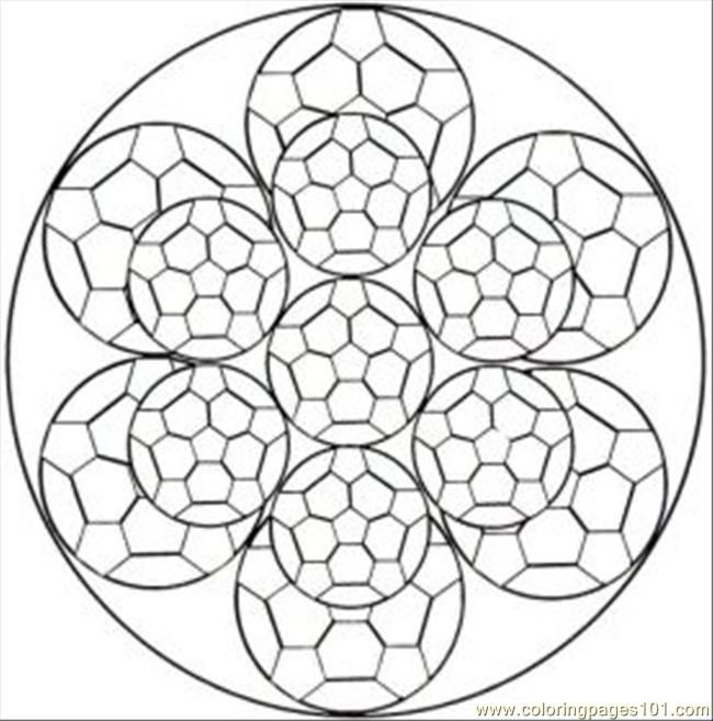 Kaleidoscope Coloring Pages Free Printable Coloring Page