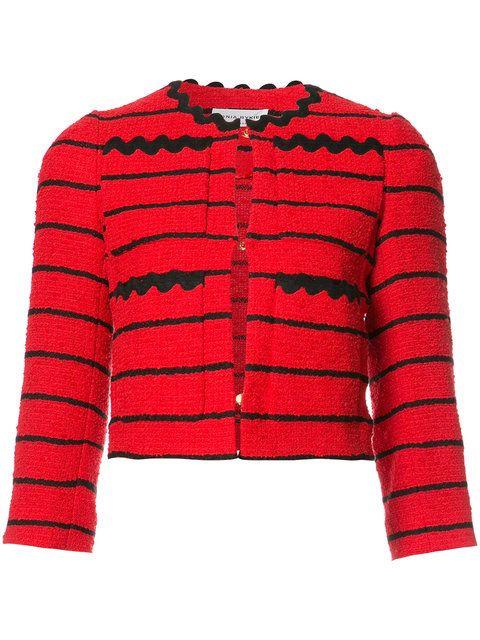 SONIA RYKIEL Striped Cropped Jacket. #soniarykiel #cloth