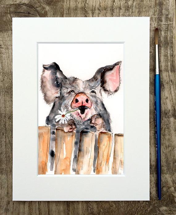 pig illustration painting pig