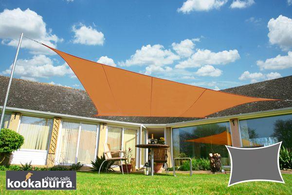 Voile D Ombrage Terracotta Rectangle 4x3m Impermeable 160g M2 Kookaburra Voile Ombrage Voile D Ombre Et Auvent De Patio