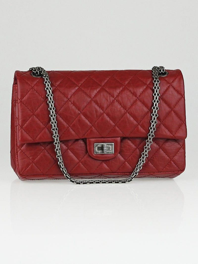 11231cdb9ac3 Chanel Red Reissue 2.55 Quilted Classic Calfskin Leather 226 Flap Bag  #WomensShoulderbags