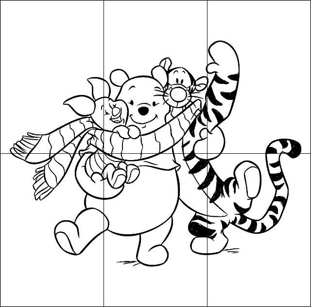 Puzzle infantil para imprimir colorear y recortar de - Puzzles para ninos pequenos ...
