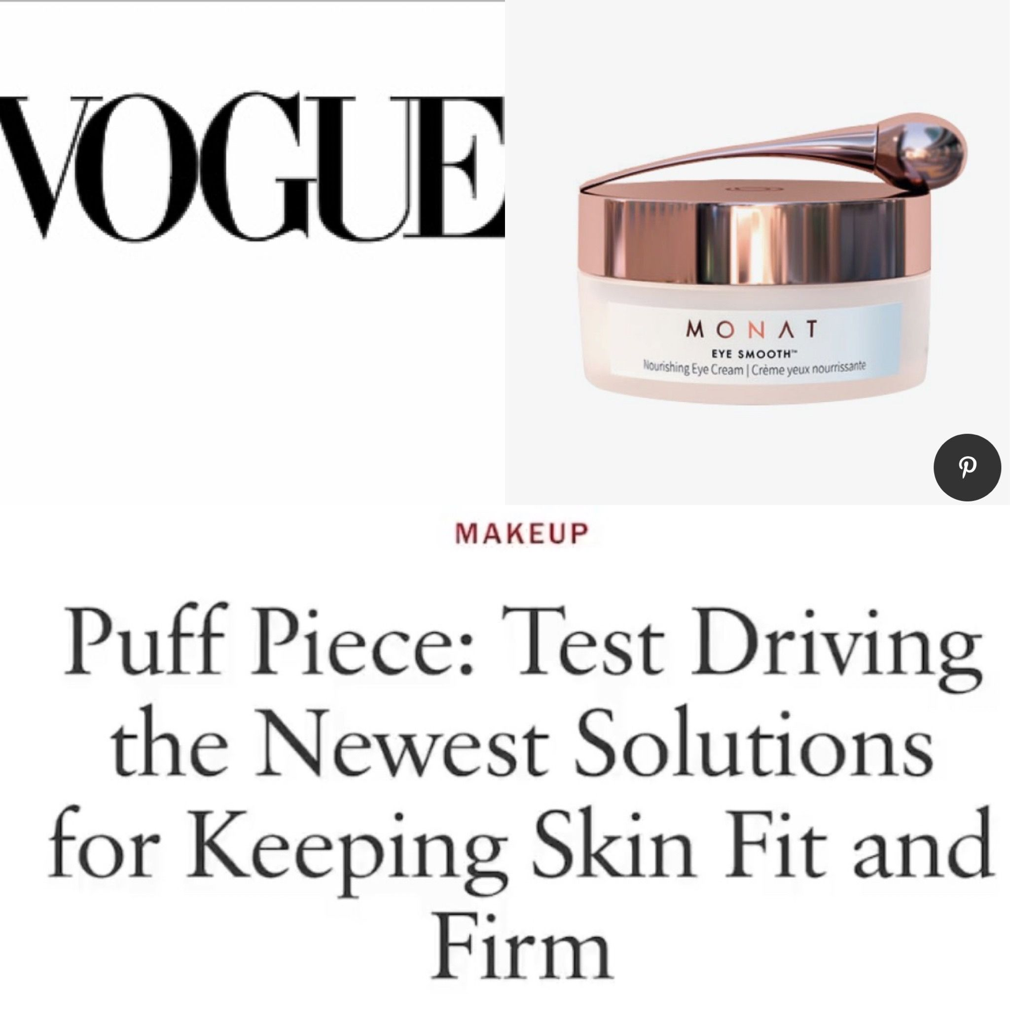 Monat Skincare In Vogue Magazine In 2020 Monat Anti Aging Skin