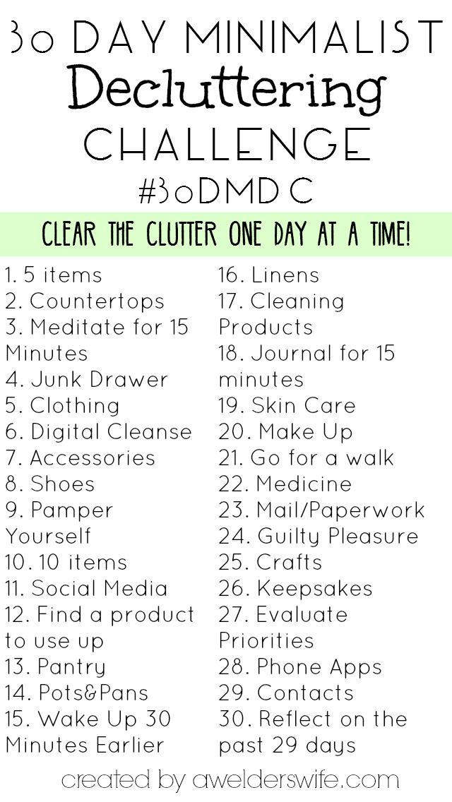 Minimalist Decluttering Challenge 30 Days To Declutter Your Home