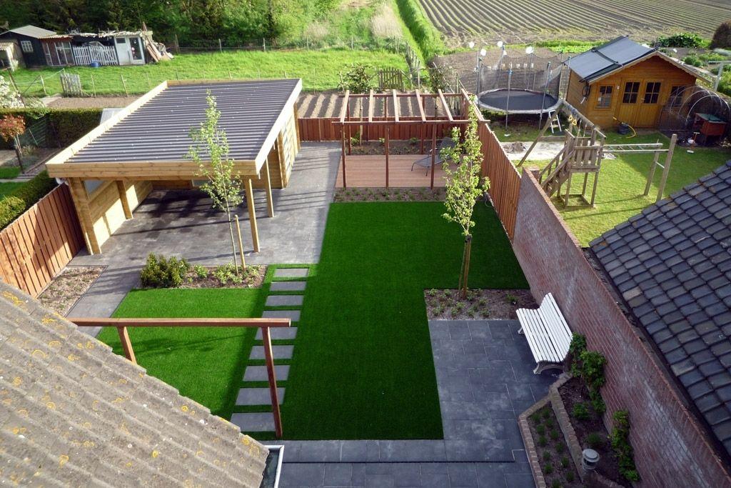 Tuin Ontwerpen Voorbeelden : Tuinontwerp kleine tuin voortuin en achtertuin moderne tuin