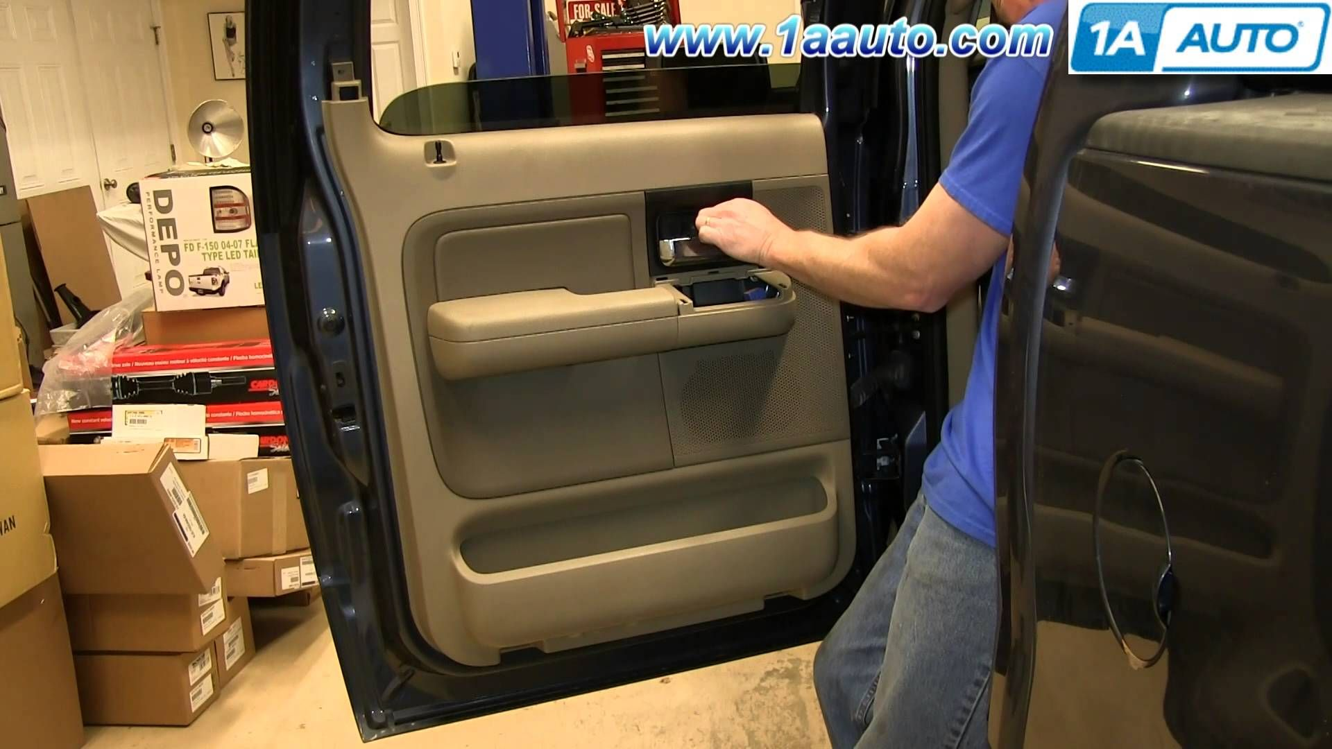 How To Remove Install Rear Door Panel 2004 08 Ford F150 F150 Panel Doors Ford F150