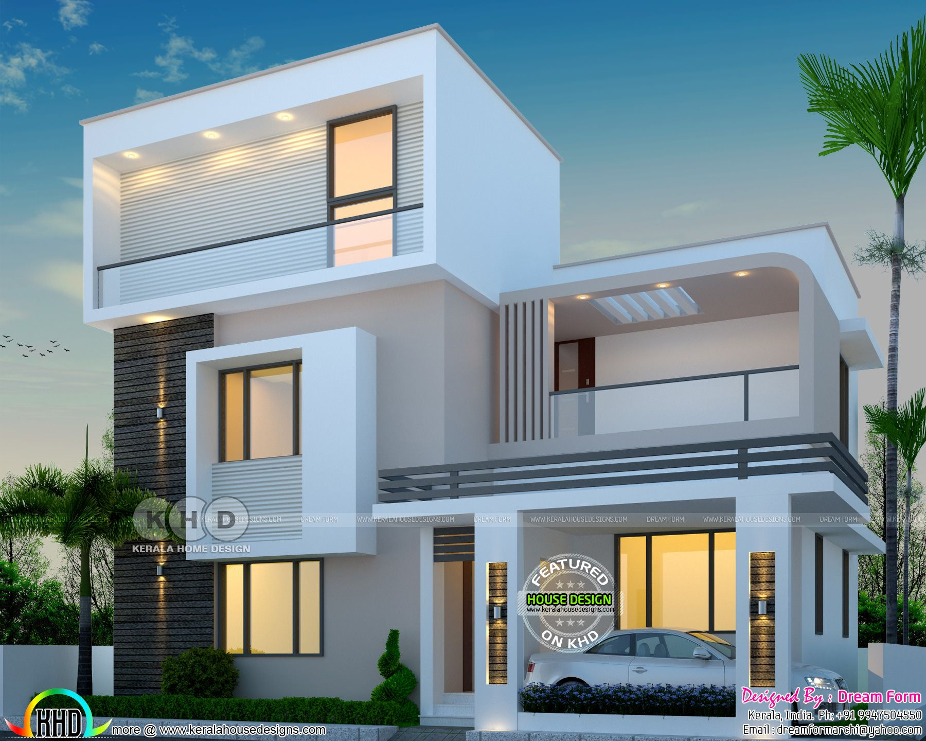 2136 Square Feet Three Storied House Plan Duplex In 2019