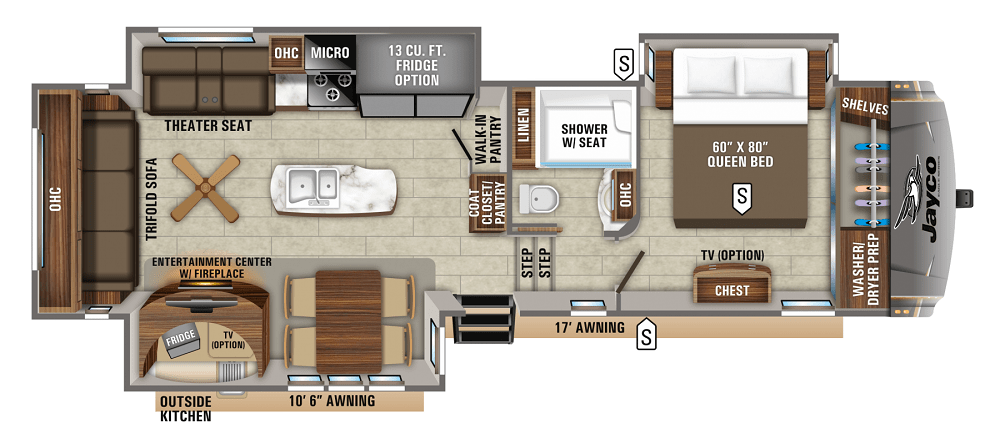 2020 Best Small Fifth Wheel Campers Floorplans The Roving Foley S Fifth Wheel Campers Floor Plans Jayco
