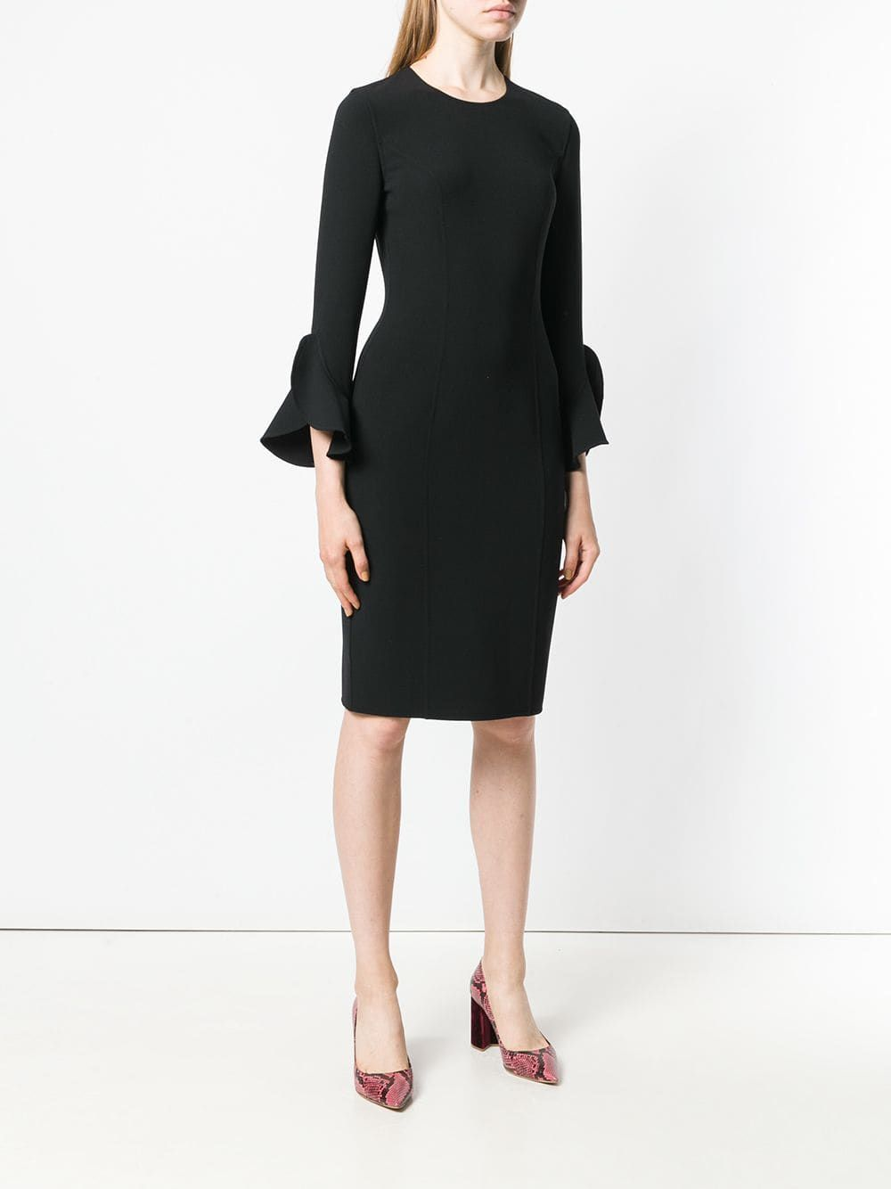 Michael Kors Collection Long Sleeve Fitted Dress Farfetch Com Long Sleeve Fitted Dress Job Interview Outfits For Women Job Interview Outfit [ 1334 x 1000 Pixel ]